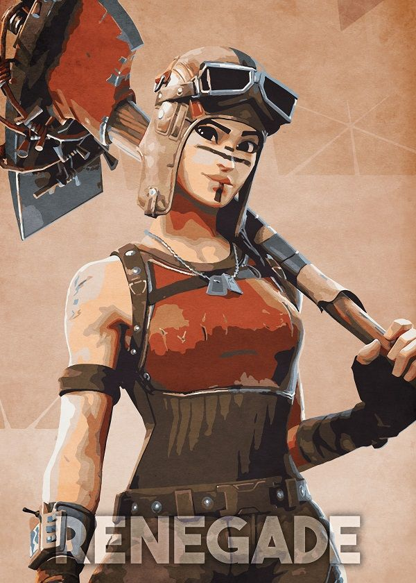 6f5bc6fa2a885 Fortnite Character Poses Renegade #Displate artwork by artist