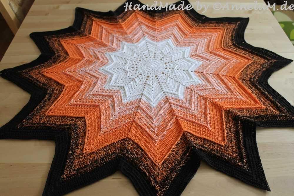 Sternendecke Mit 12 Zacken Häkeln Doilies Crochet Und Patchwork