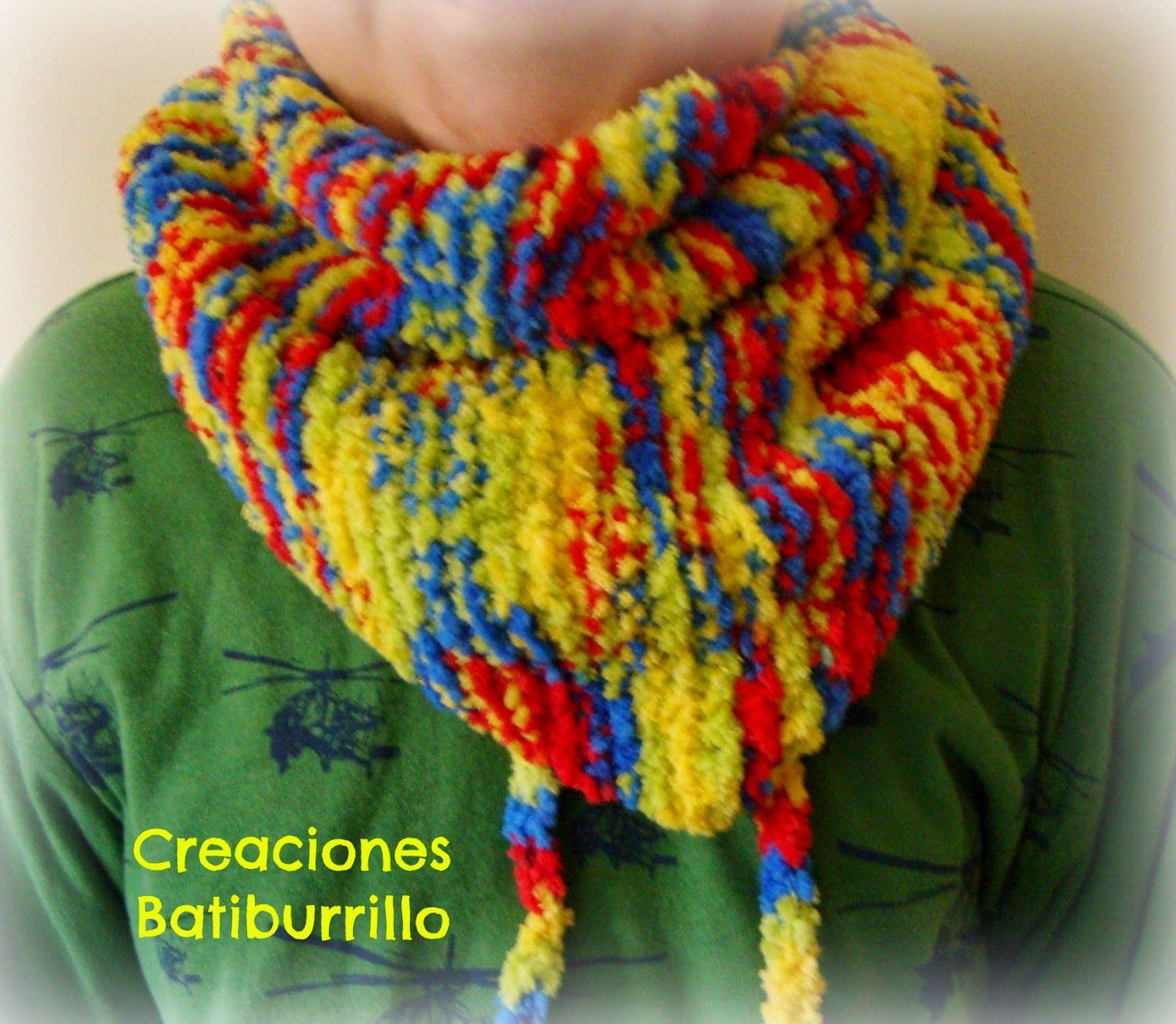 CREACIONES BATIBURRILLO: BUFANDA MODELO BAKTUS