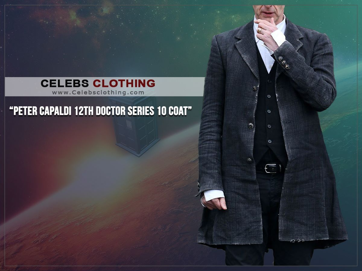 12th Doctor Series 10 Peter Capaldi Gray Coat #12doctor