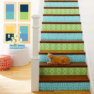 How To Paint EVERYTHING Painted stairs, Stenciled