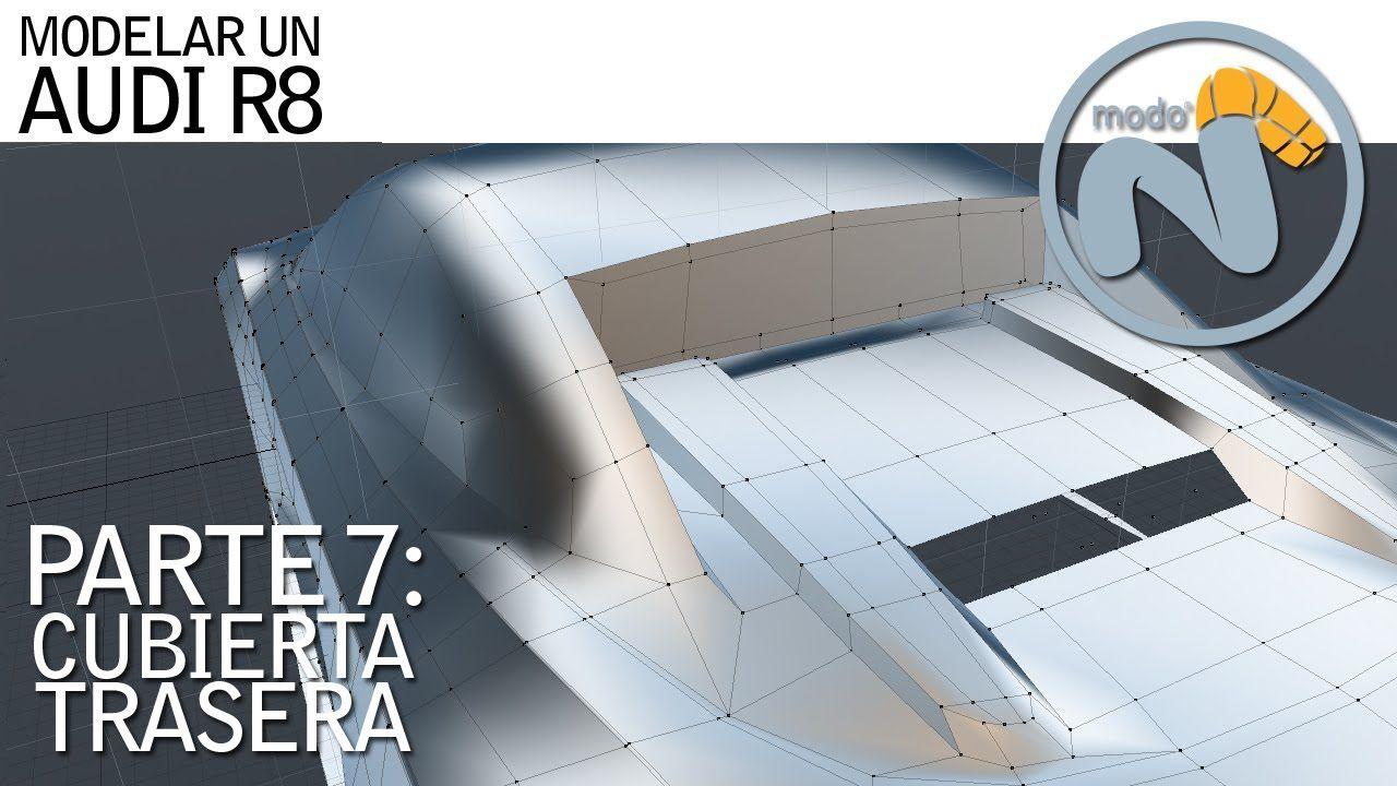 Modelando un AUDI R8: CUBIERTA TRASERA