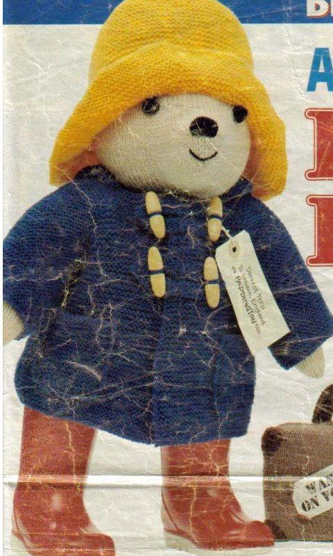 Paddington Bear Knitting Pattern Pdf Instant Download Paddington