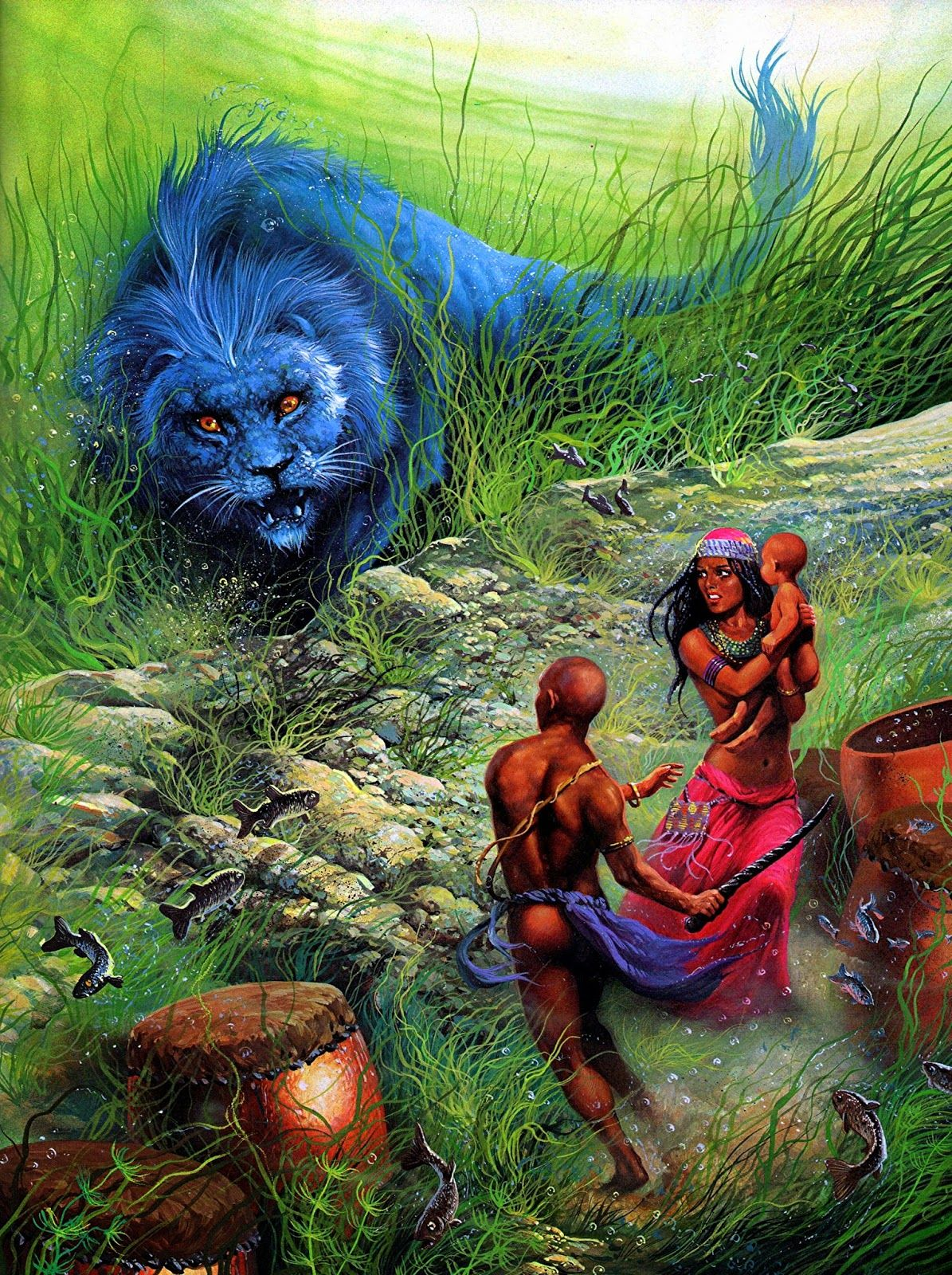 ShukerNature: BLUE LIONS OF AFRICA AND ASIA | Beings of Myth