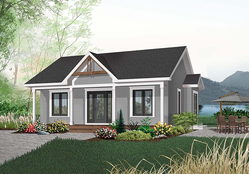 Ranch Style House Plan 65045 with 2 Bed , 1 Bath in 2020 | Cottage ...