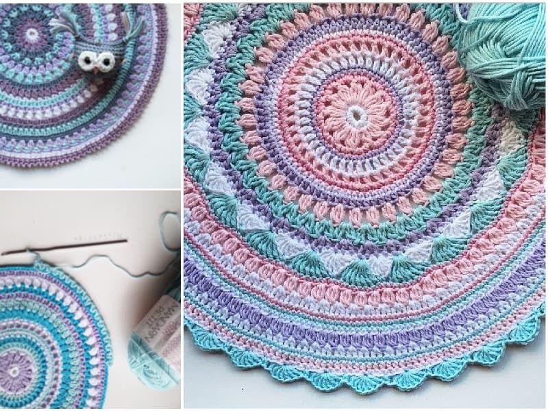 DIY Crochet Mandala Rug Artistic Patterns