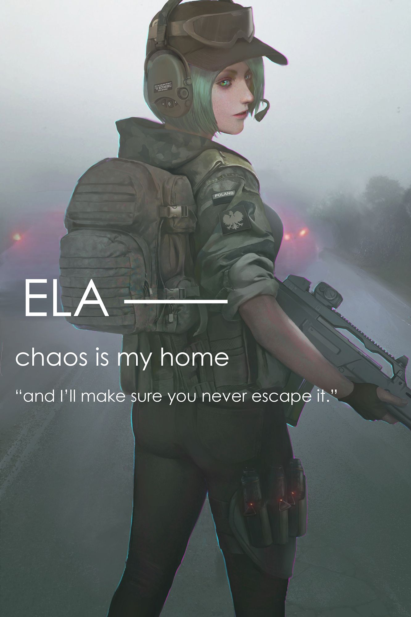 Ela By Tiger Type Rainbow Six Siege Anime Rainbow 6 Seige