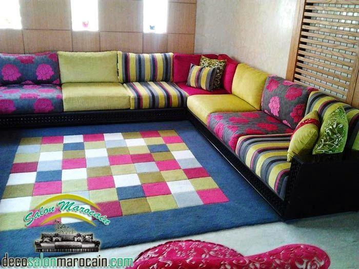 Salon marocain contemporain Multi coloris | Salon Marocain ...