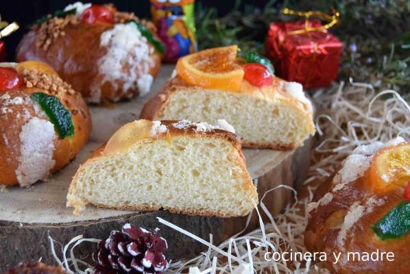 Roscon De Reyes Individual Y Facil Cocinera Y Madre Recetas De Comida Batido De Huevo Roscon De Reyes