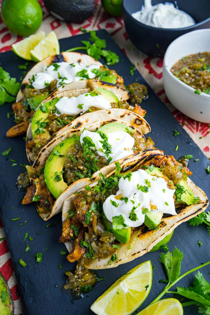 Chicken and Avocado Tacos #tacorecipes