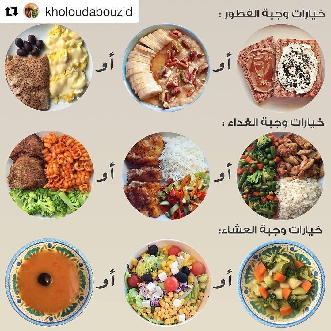 حياة صحية On Instagram خيارات صحية لوجبات الفطور الغداء العشاء Diet Healthy Lun Healthy Fitness Meals Health Facts Food Health Fitness Food