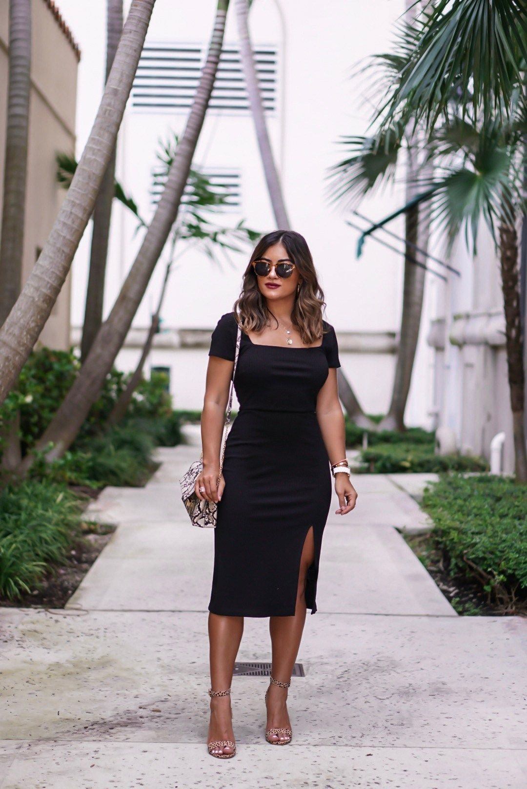 Miami Blogger Krista Perez Styles Flattering 50 Little Black Dress Outfit On Sugarlovechic Com Little Black Dress Outfit Fashion Little Black Dress [ 1616 x 1080 Pixel ]