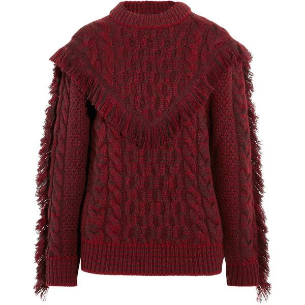 Alanui Fringed cable-knit cashmere sweater (€1.520) ❤ liked on ...