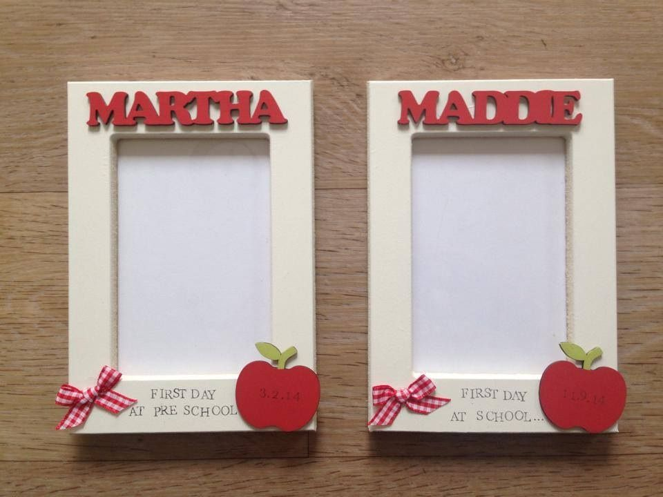 First day at school photo frames - katieskraftskreations - Back to ...