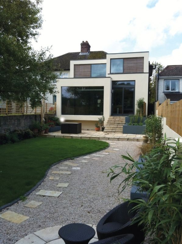 Cool extension to typical semi detached dwelling dublin ireland also rh pinterest