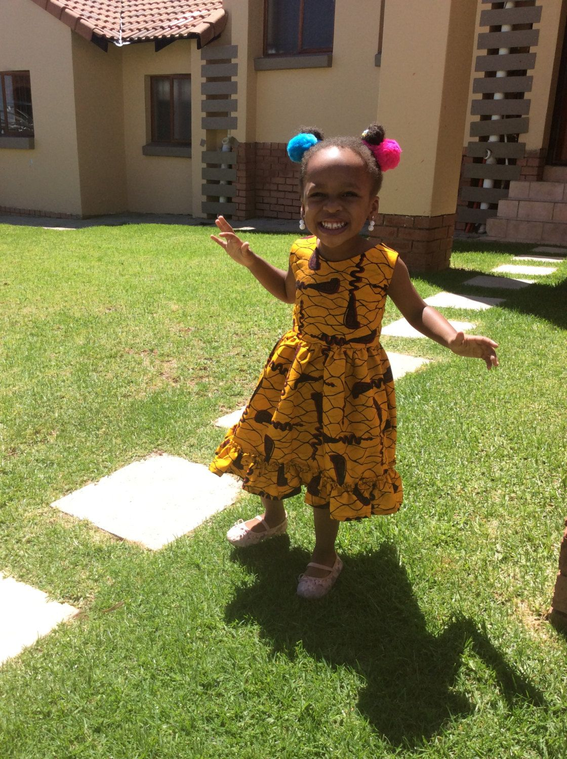 Little girls dresses! African print by Jasminekingcouture on Etsy