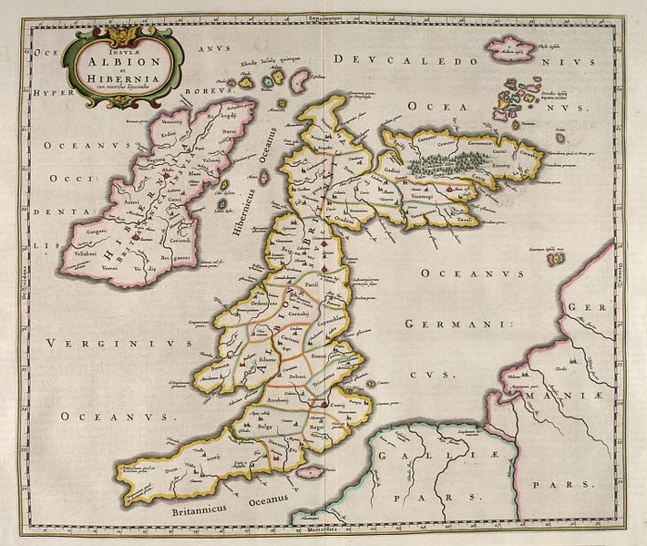 Ancient Map Of Ireland.Ancient Map Of Britain Ireland It Says Albion 3 My Inner Geek