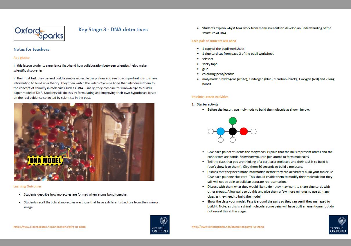 Ks3 Science Lesson Dna Detectives
