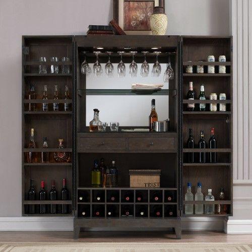 Best Ahb Fairfield Wine Cabinet Glacier Grey Home Bar 400 x 300