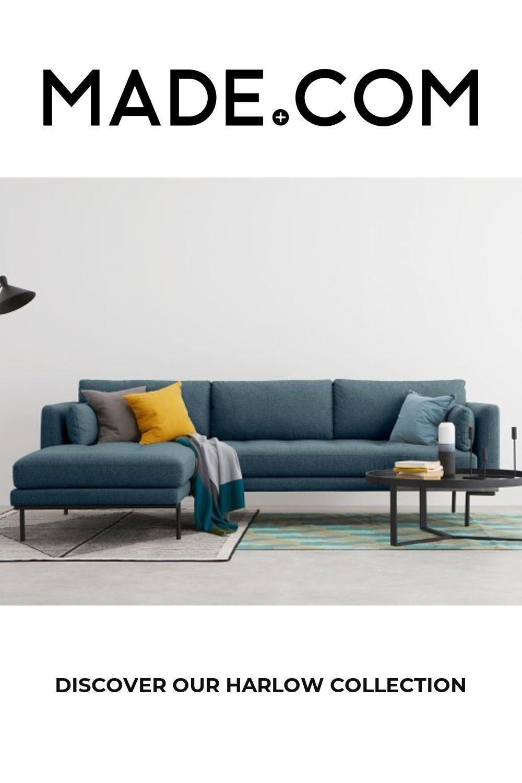 Made Orleans Blue Corner Sofa In 2020 Corner Sofa Living Room Green Corner Sofas Corner Sofa