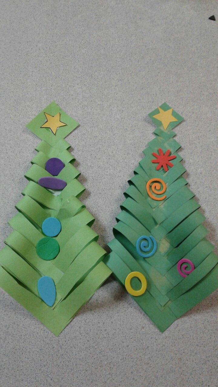 Construction Paper Christmas Trees Minus The Trunk Paper Christmas Tree Christmas Tree Construction Paper