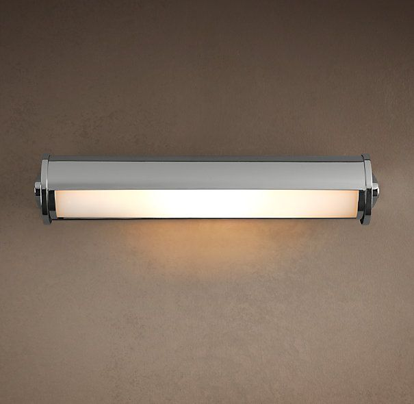 Royale Adjustable Sconce Large Polished Nickel - RH kids bath light ...