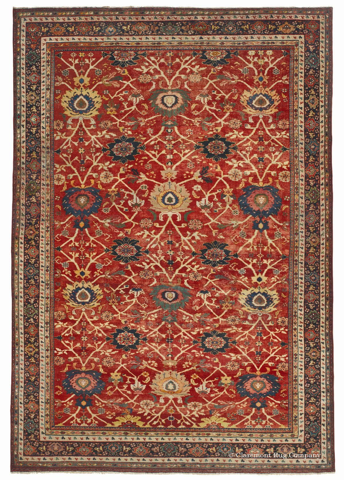 Sultanabad 9ft 2in X 12ft 10in Circa 1875 This Superb High Decorative Antique Carpet From The Persian Sultanabad Rug Sty Rugs Rugs On Carpet Antique Carpets