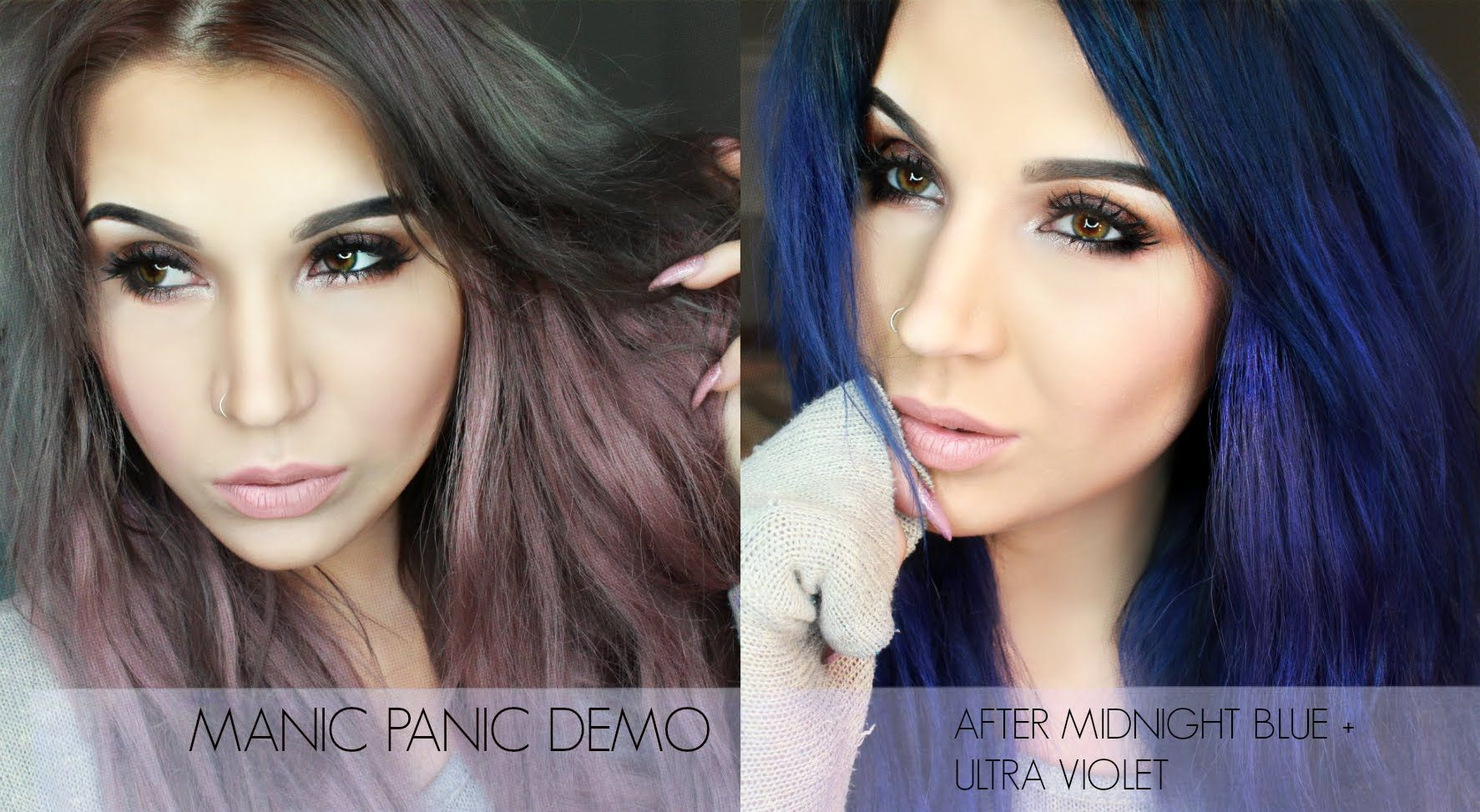 Demo Manic Panic Amplified After Midnight Blue And Ultra Violet Blue Hair Purple Hair Long Hair Styles