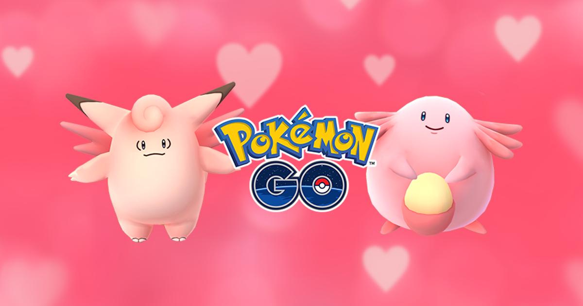Pink Pokémon Go for Valentine's Day Đi săn