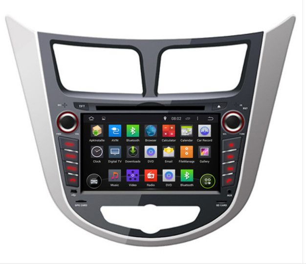 Ram 2gb Hd Android 7 1 Fit Hyundai Verna Accent Solaris 2011 2015 Car Dvd Player Multimedia Navigation Gps Navi Radio Audio With Images Car Radio Car Car Dvd Players