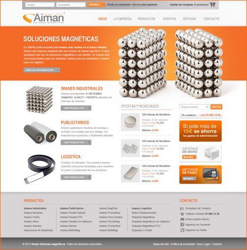 Diseño web página inico aimangz.es