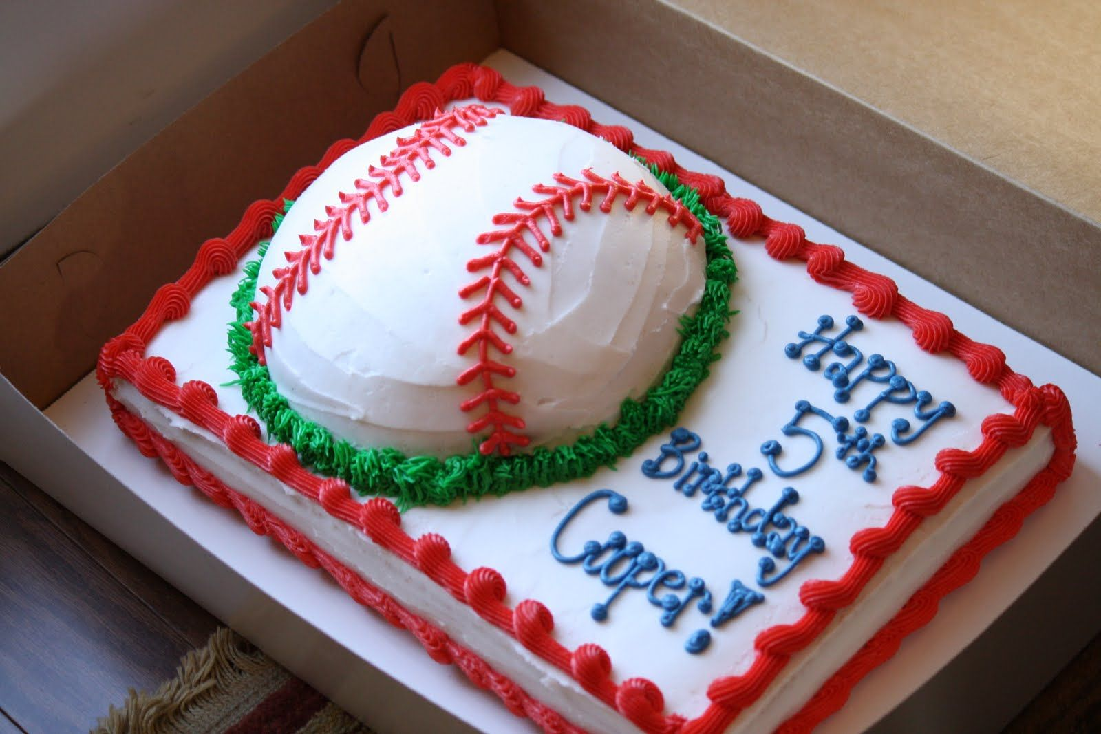Swell Coopers 5Th Birthday Baseball Cake With Images Baseball Personalised Birthday Cards Epsylily Jamesorg