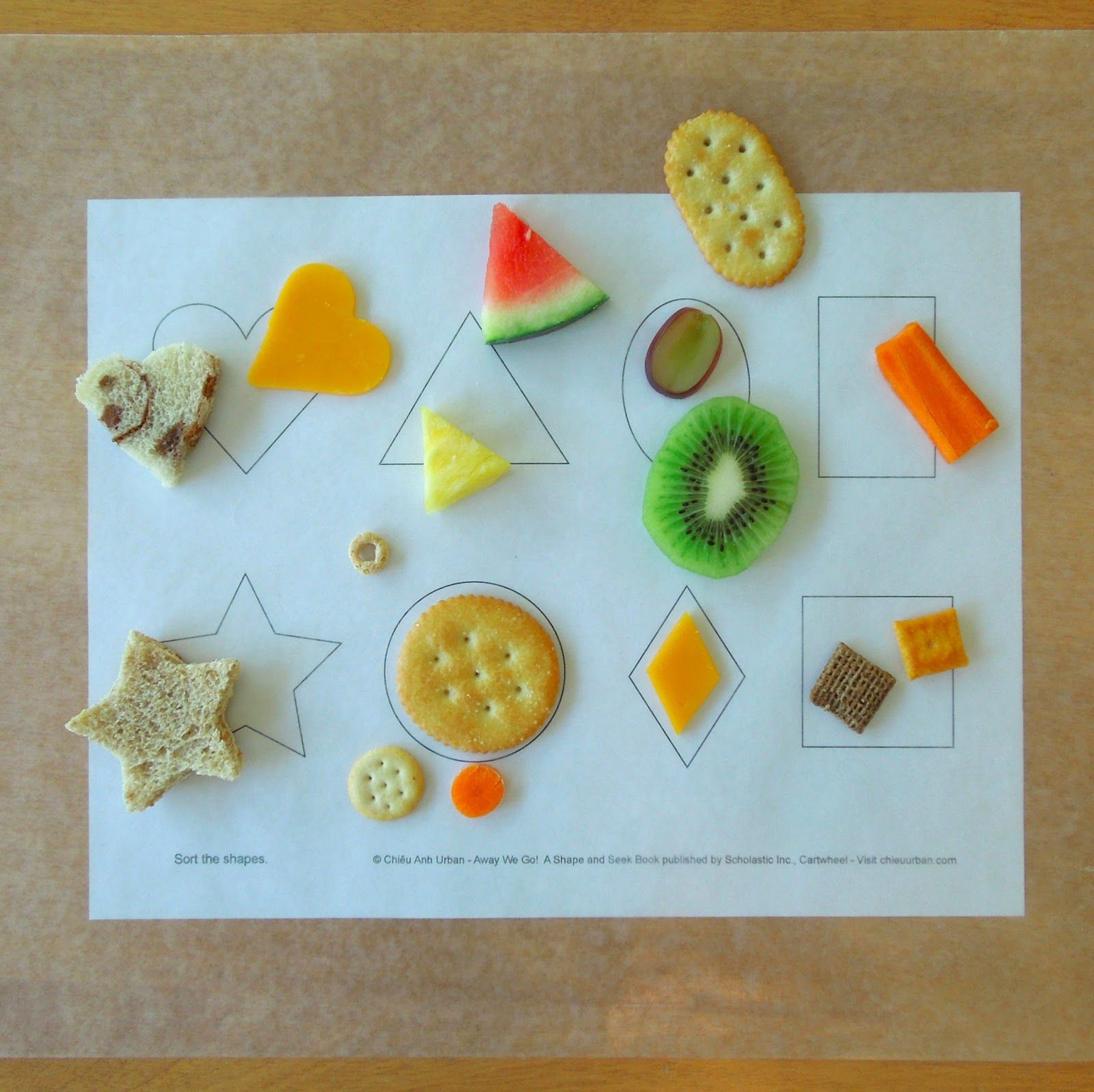 Match shapes; during snack time! | Kid Snacks | Pinterest ...