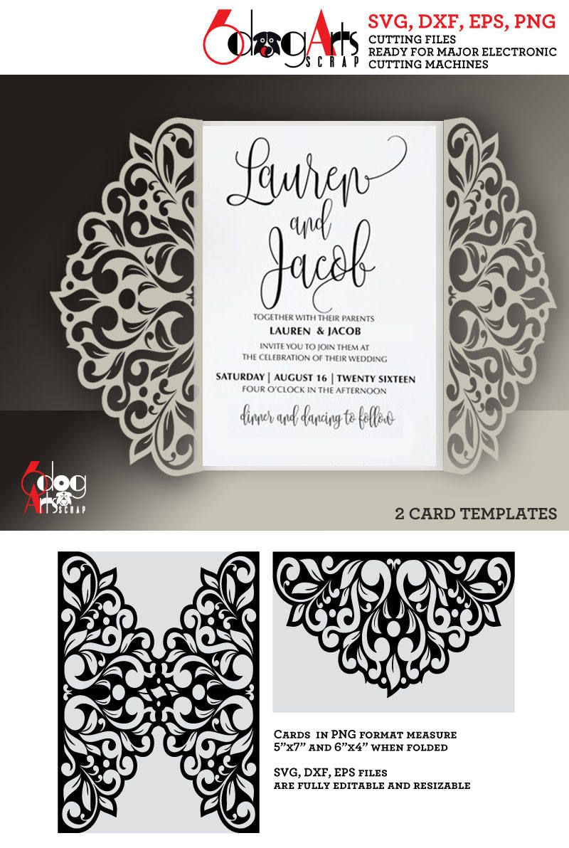 2 floral lace card templates digital cut svg dxf files wedding 2 floral lace card templates digital cut svg dxf files wedding invitation stationery laser cuttable download silhouette cricut jb 863f stopboris Image collections
