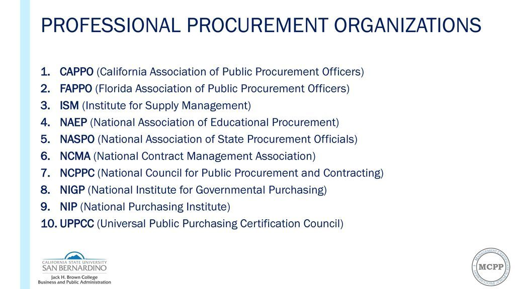 professionalizing public procurement: the role of higher