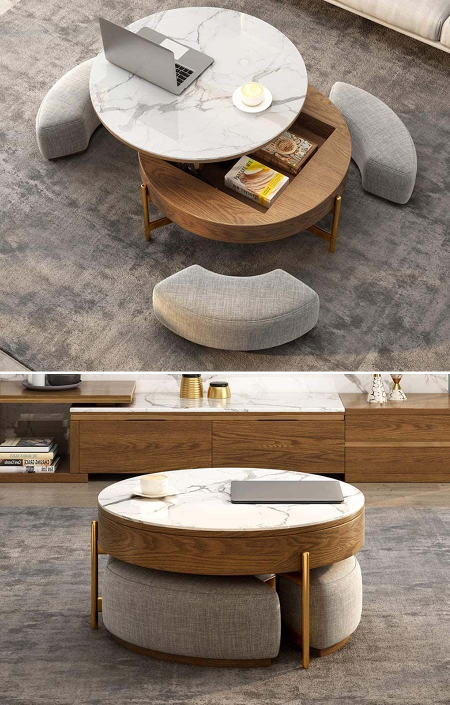 25 Space Saving Furniture Pieces You Can Actually Get Tiny Partments Coffee Table With Seating Coffee Table Coffee Table Small Space [ 1410 x 900 Pixel ]