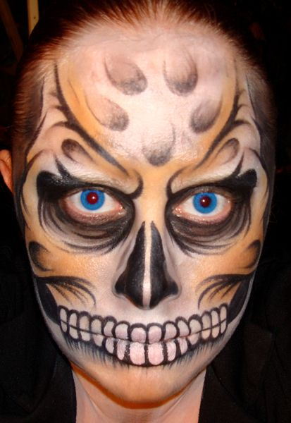 cool face paint designs 20 cool and scary halloween face painting ideas 6 - Cool Halloween Designs