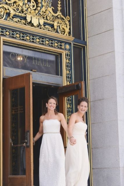 These City Hall Weddings Will Make You Believe In Love #refinery29  http://www.refinery29.com/best-city-hall-weddings#slide-7  Brooke & Emmy  These stunning ladies said their vows at San Francisco's City Hall.