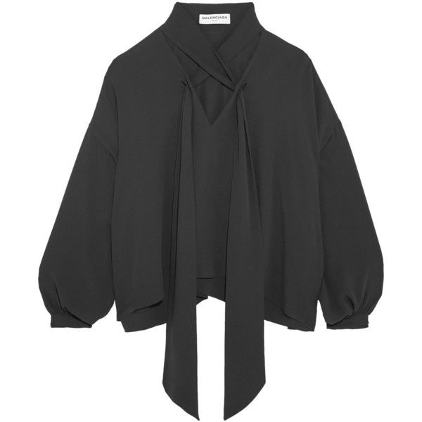 Balenciaga Silk Blouse 1 230 Liked On Polyvore Featuring