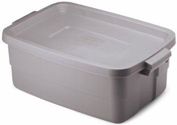 Amazon Com Rubbermaid Fg2214tpsteel Roughneck Storage Tote Box 10 Gallon Steel Case Of 8 St Rubbermaid Storage Bins Plastic Box Storage Rubbermaid Storage