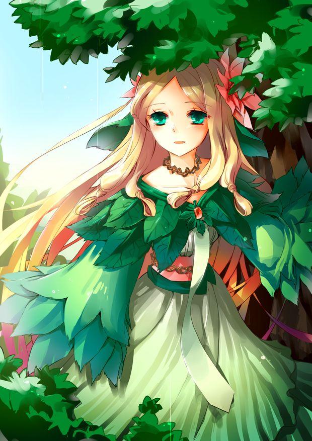 Fille manga dans la nature manga anime personnages et - Personnage manga fille ...