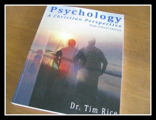 "Psychology: A Christian Perspective review by @Cindy West (Our Journey Westward) ""thorough, yet easy-to-understand Christian-based course for 11th or 12th grade students."""