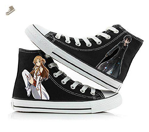 73364662ead9 Sword Art Online Canvas Shoes Cosplay Shoes Sneakers Black 1 ...
