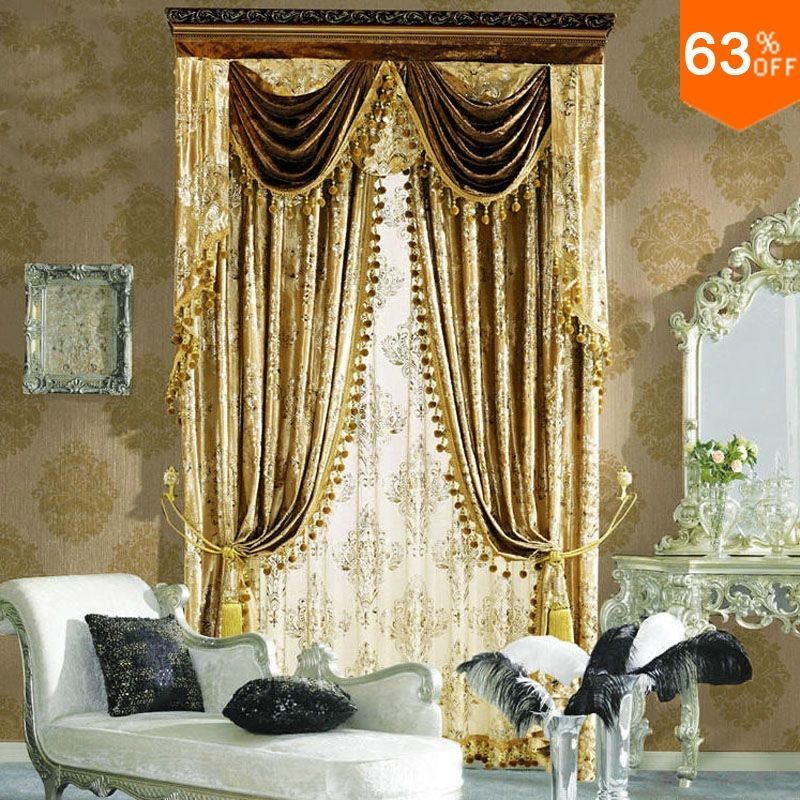 Find More Curtains Information About Golden Small Fur Surface Cool Living Room Curtain Design Decorating Inspiration
