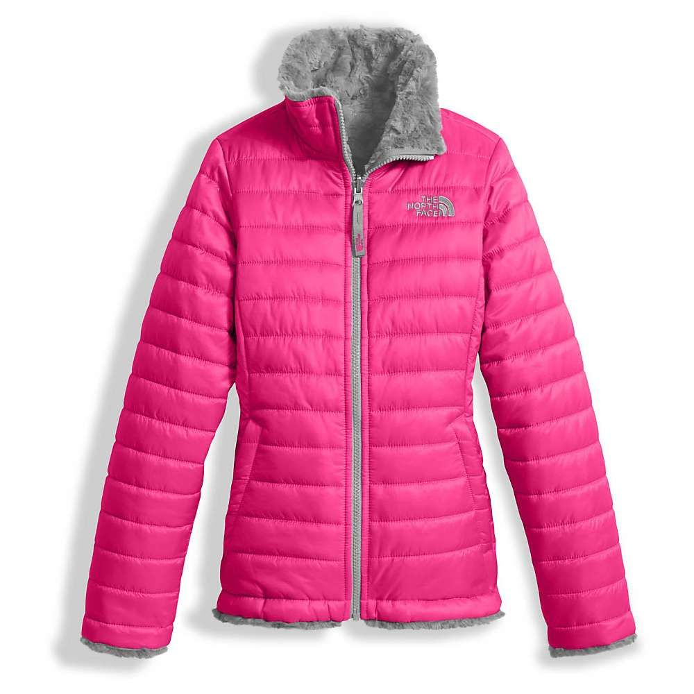 41d3df86eb The North Face Girls  Reversible Mossbud Swirl Jacket - Large - Petticoat  Pink