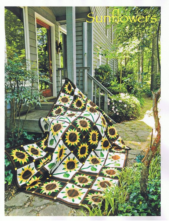 sunflower quilt fabric | SUNFLOWER Quilt Kit with Hand Dyed Fabrics - Spectacular Kit - Save 10 ...