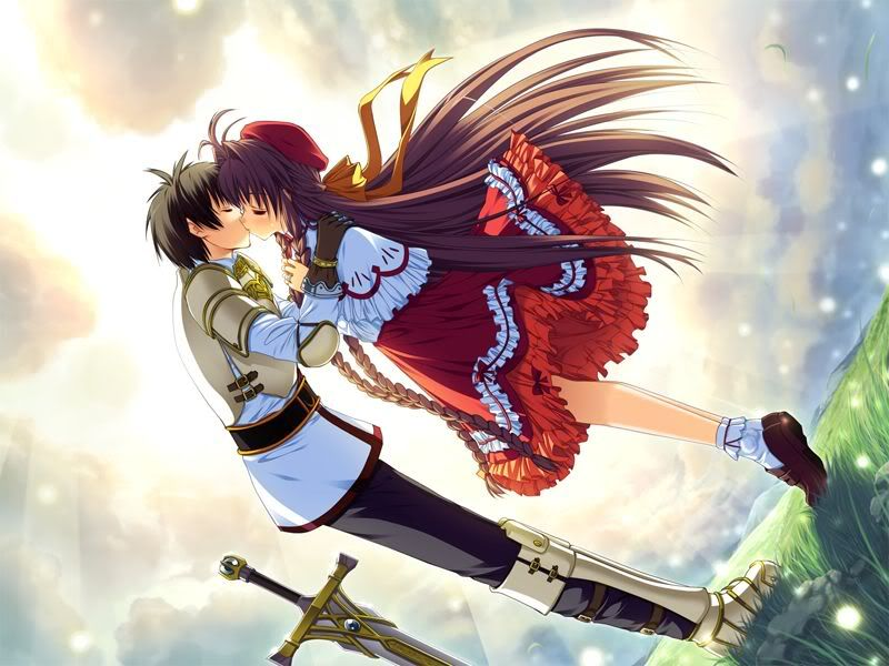 Anime Couple Anime Love Couple Kiss Wallpapers Pictures