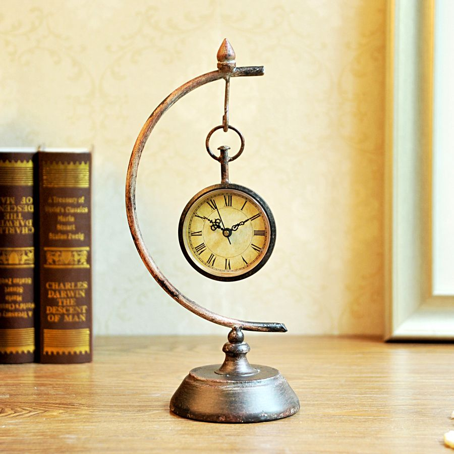 Cheap Desk & Table Clocks on Sale at Bargain Price, Buy Quality accessories  home decor - Antique Desk Clock Antique Furniture