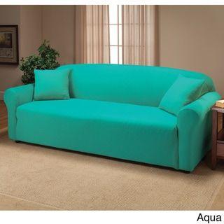 Surprising Stretch Sofa Slipcover Stretch Fit 1 Piece Red Madison Spiritservingveterans Wood Chair Design Ideas Spiritservingveteransorg