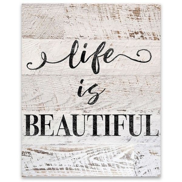 Life is Beautiful Canvas Art Print ($40) ❤ liked on Polyvore ...
